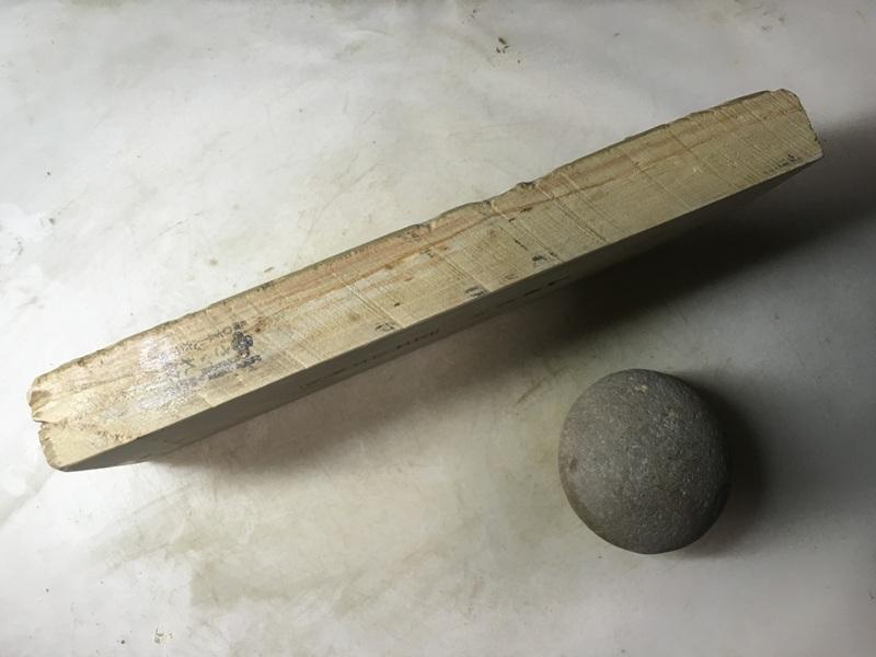画像2: 天然砥石 正本山 山城銘砥中世中山 戸前烈梨地むしろ肌八寸40で六無地1.2Kg 9163