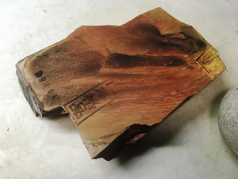 画像4: 天然砥石 正本山 山城銘砥中世中山 戸前赤環巻硬そう0.3Kg 9164