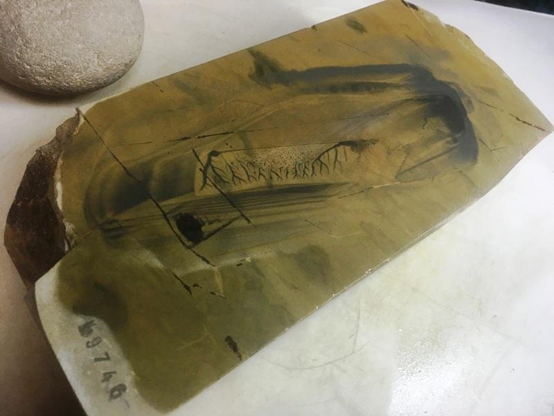 画像4: 天然砥石 正本山 山城銘砥京都市梅ケ畑産奥殿東からす大極上 1.6Kg 9746