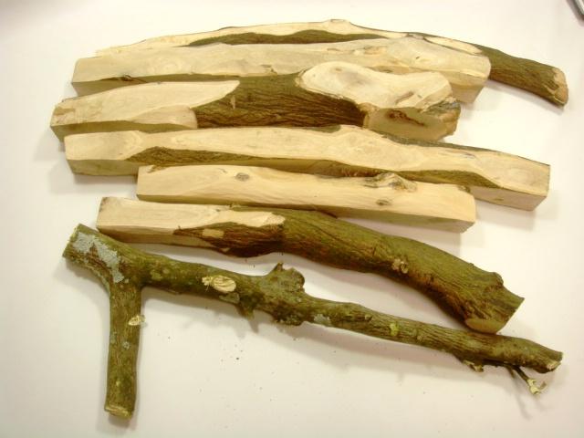 画像1: 最強の槌の柄材 樹齢50年級伊予の温州みかん ソマ角取り