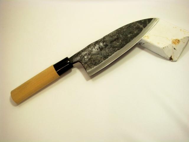 画像1: 【わけありラスト2】白鷹先生のスウェーデンレア鋼製出刃包丁 五〜九寸