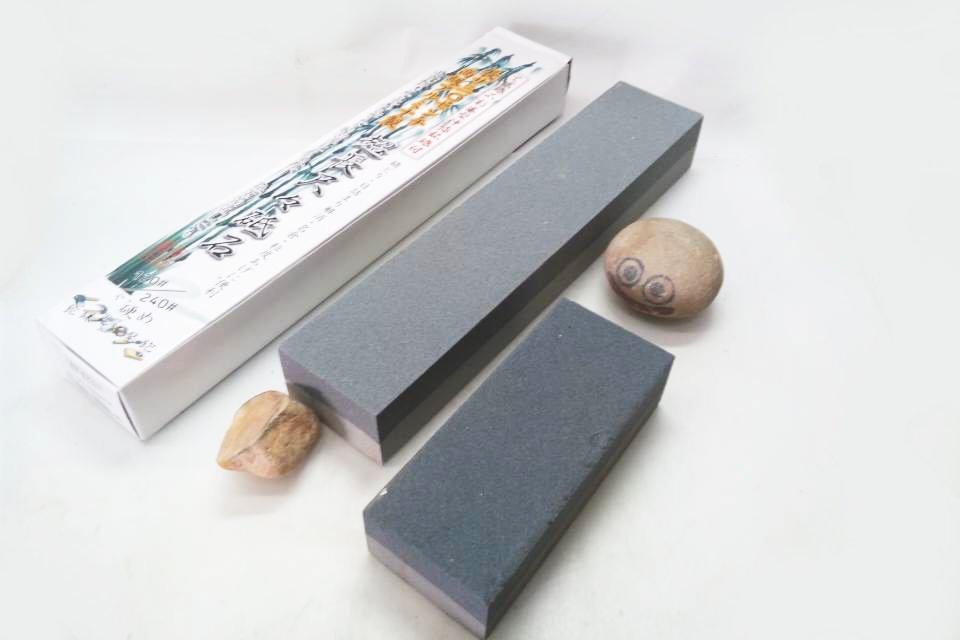 画像1: 伊予名倉付! 超長尺々砥石 高級Aアルミナ製120/240# 面直し ダイヤの貼り付け台にも